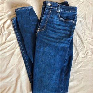 ZARA Hi-Rise Skinny Blue Jeans